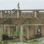 Roofing work begins