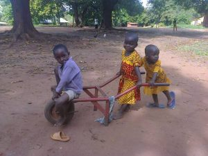 children playing with Wheelbarrow
